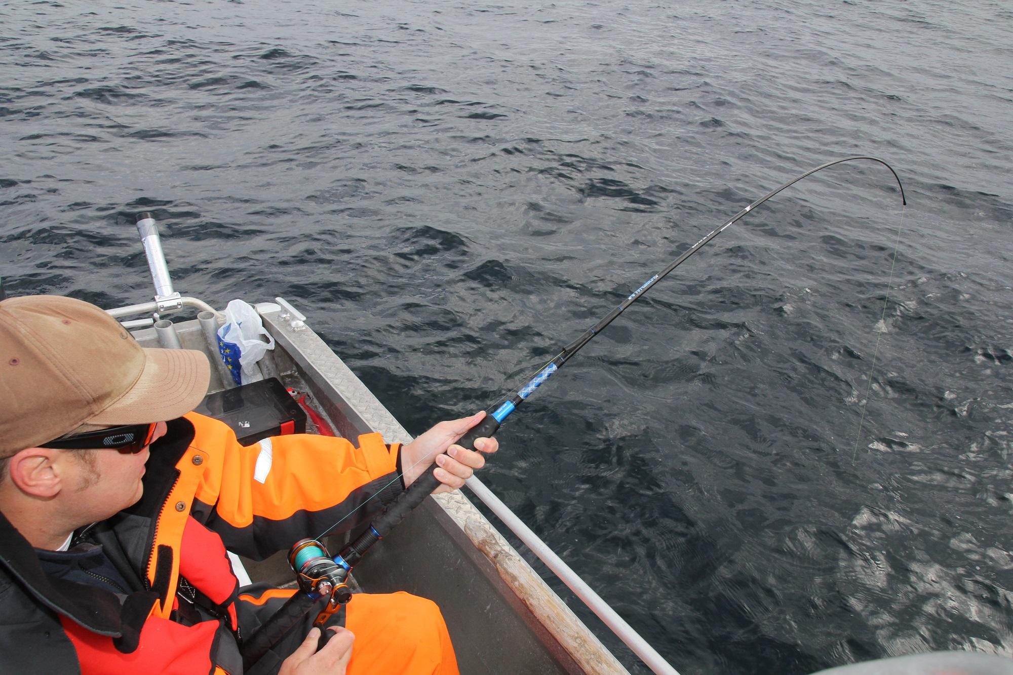 Ole drillt wieder einen besseren Fisch. Was hängt dieses Mal am Haken?