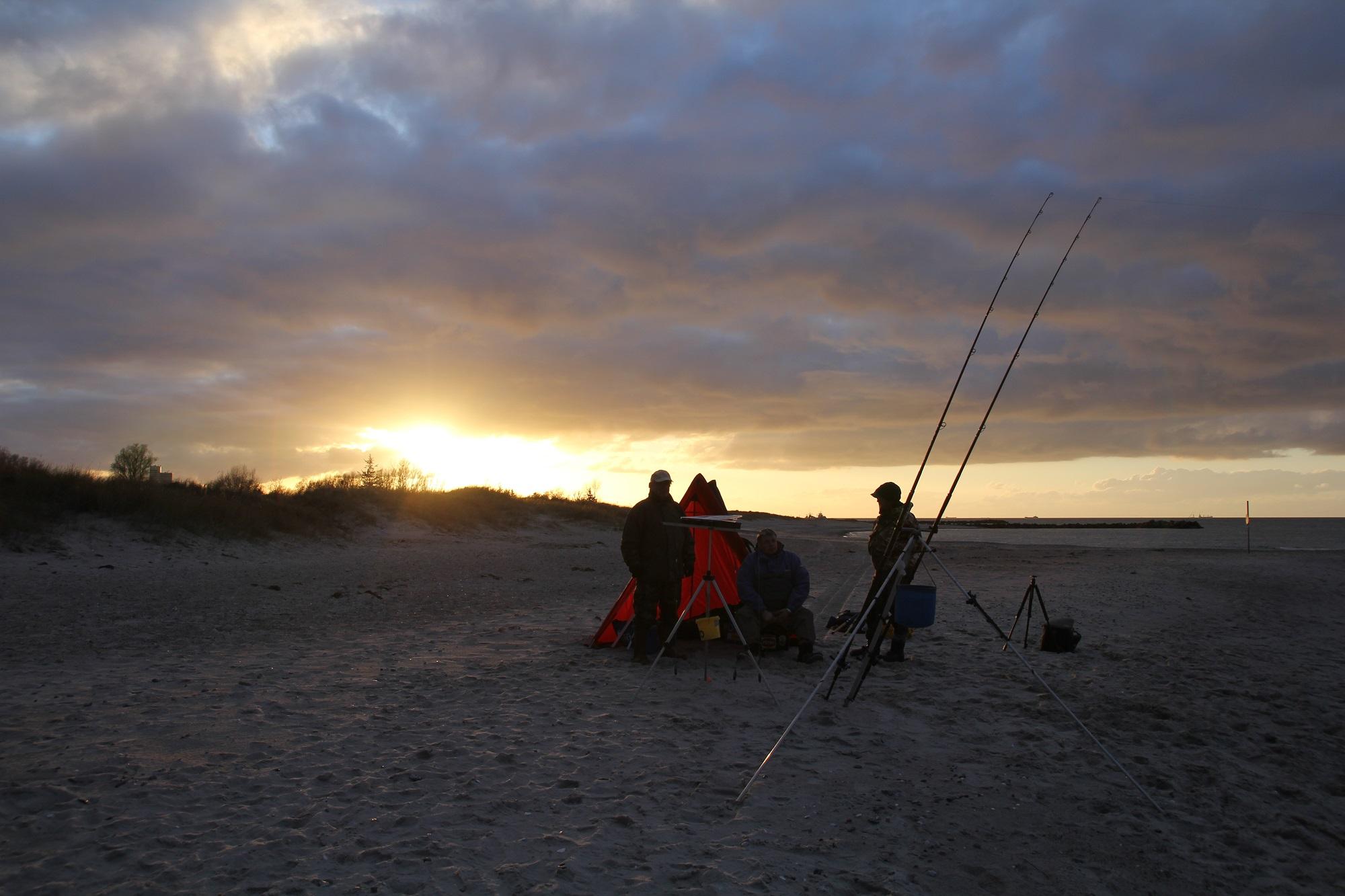 Beim Brandungsangeln beißen Klieschen aber auch andere Plattfischarten auf die Köder (Foto: Jesco Peschutter)